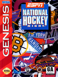 ESPN National Hockey Night Sega Genesis Game Box